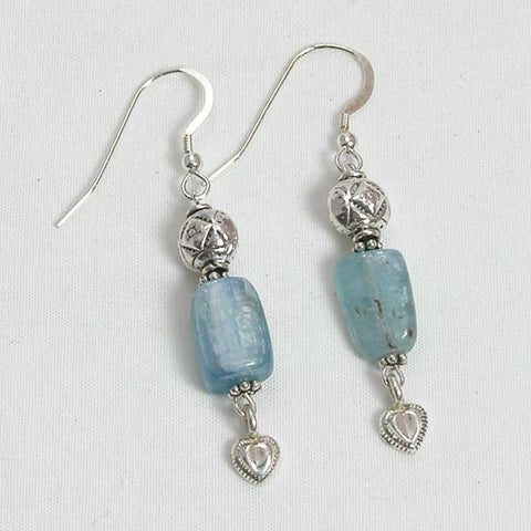 Kyanite Gemstone and Silver Earrings (E0078)