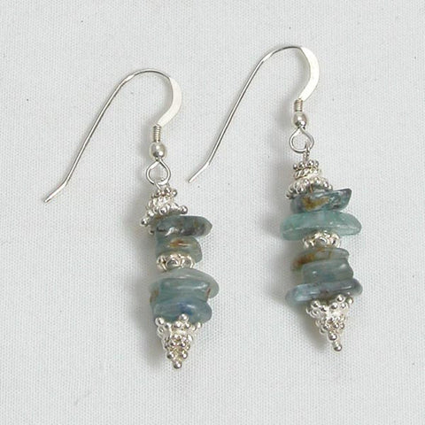 Kyanite Gemstone and Silver Earrings (E0079)