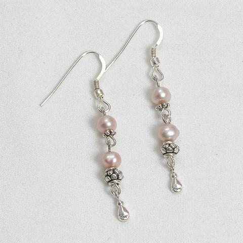 Pearl Gemstone and Silver Earrings (E0113)
