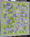 All Shook Up-Purple & Green - - Finished Quilt