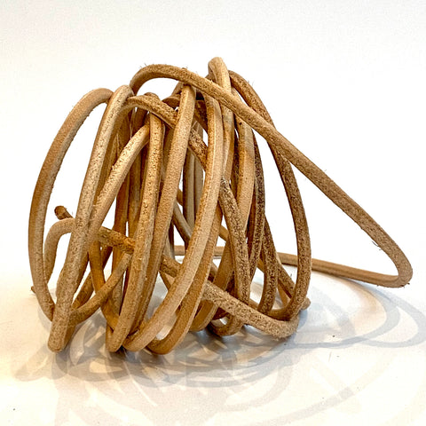 Veg Tan Round Leather Cord - Belting - 4 sizes available