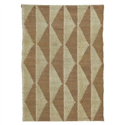 Neutral & White Diamond Kilim Rug