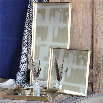 Lira Brass Framed Mirror