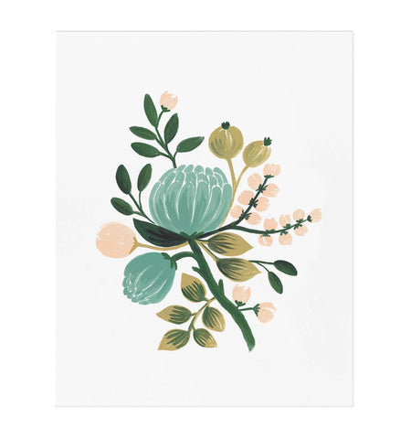 Blue Botanical Art Print