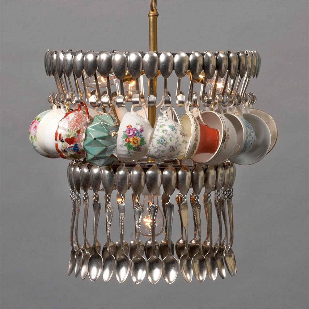 Double Teacup Chandelier