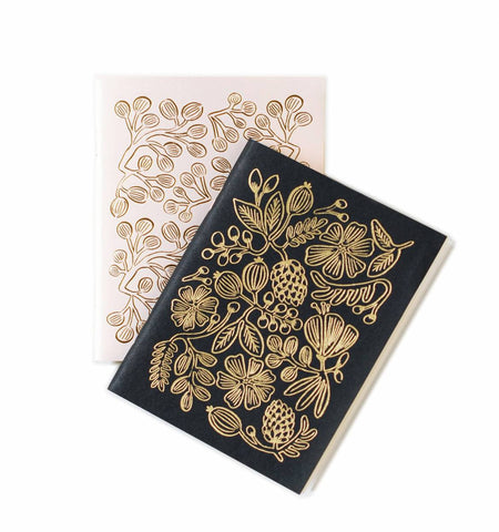 Gold Foil Pocket Notebooks- Set of 2