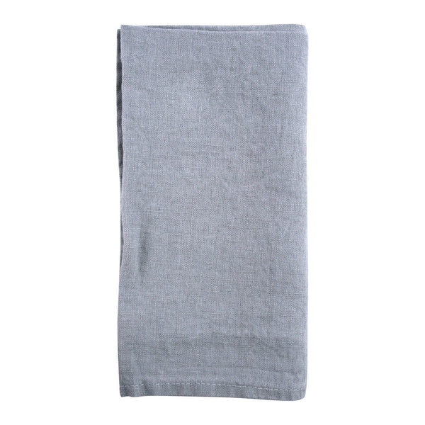 Light Grey French Stonewashed Linen Napkins- Set of 2