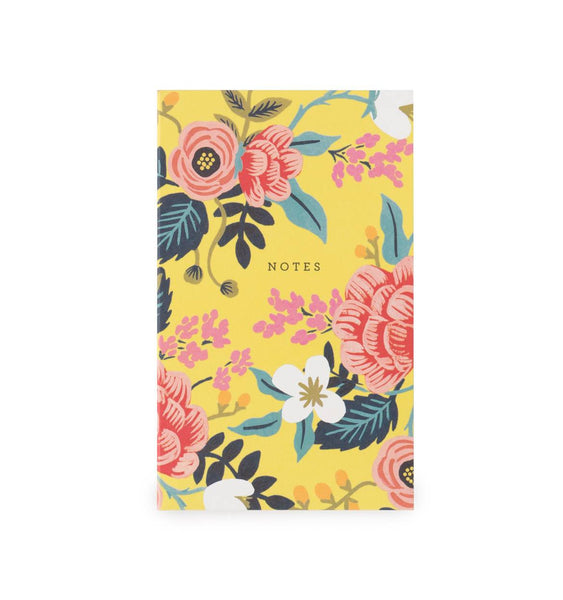 Birch Floral Notepad with Pocket