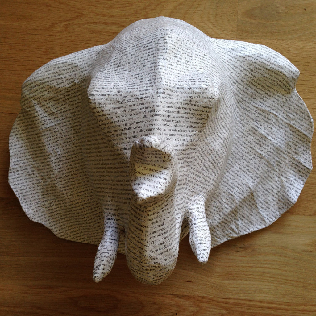 Papier-Mâché  Elephant Head- Medium