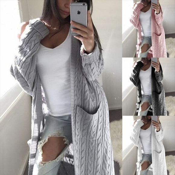 cardigans women long sweater long sleeve women's sweater knitted winter sweaters for female coat S M L XL