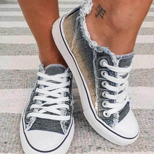 Women's Sneakers 2020 Summer Canvas Shoes Woman Vulcanized Shoes Ladies Lace Up Casual Flats Shoes Basket Femme Zapatos Mujer
