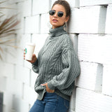 2020 Autumn and Winter New knit sweater Women's Turtleneck sweaters Pullover oversized sweater Thick women sweater