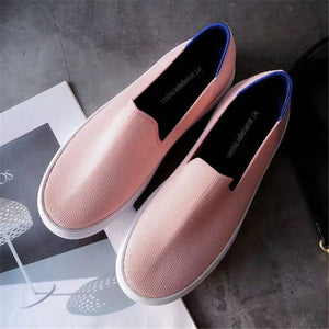 2021 Women's Loafers flat Shoes Zapatos De Mujer Autumn  Round  Ballerine Femme Tenis Feminino Casual Black Ladies weaving
