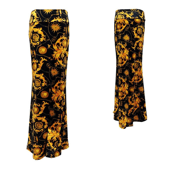 Summer Women's Skirts Printed Long Skirts Bohemian 2021 Fashion New Style Beach Leisure Vacation Ladies Sexy Hip Skirts 3XL