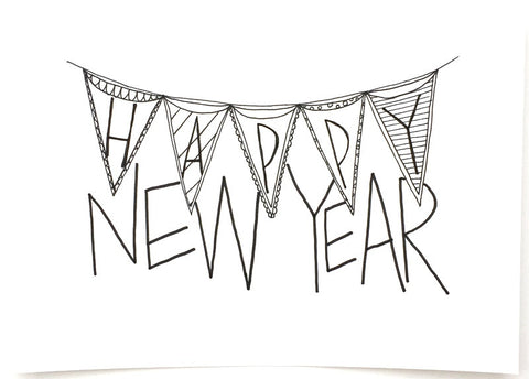 """Happy New Year"" Print"