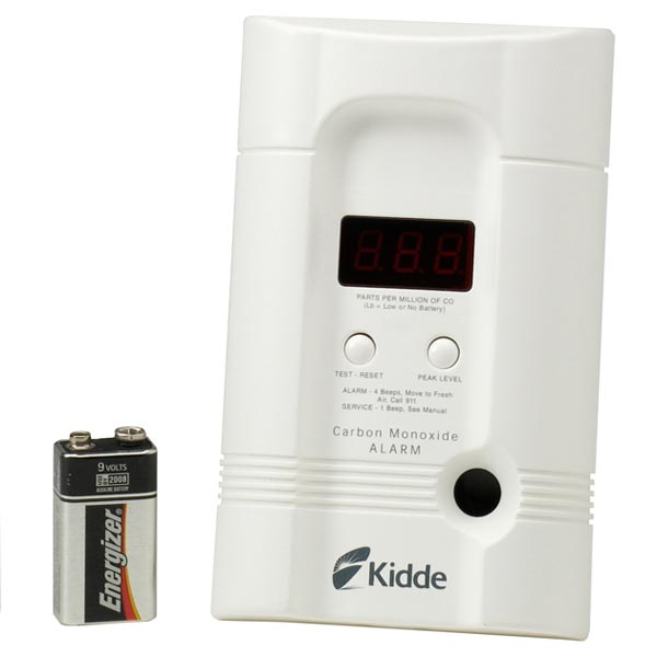 Kidde CO Alarm Digital Direct Plug-In with Deluxe Battery Backup