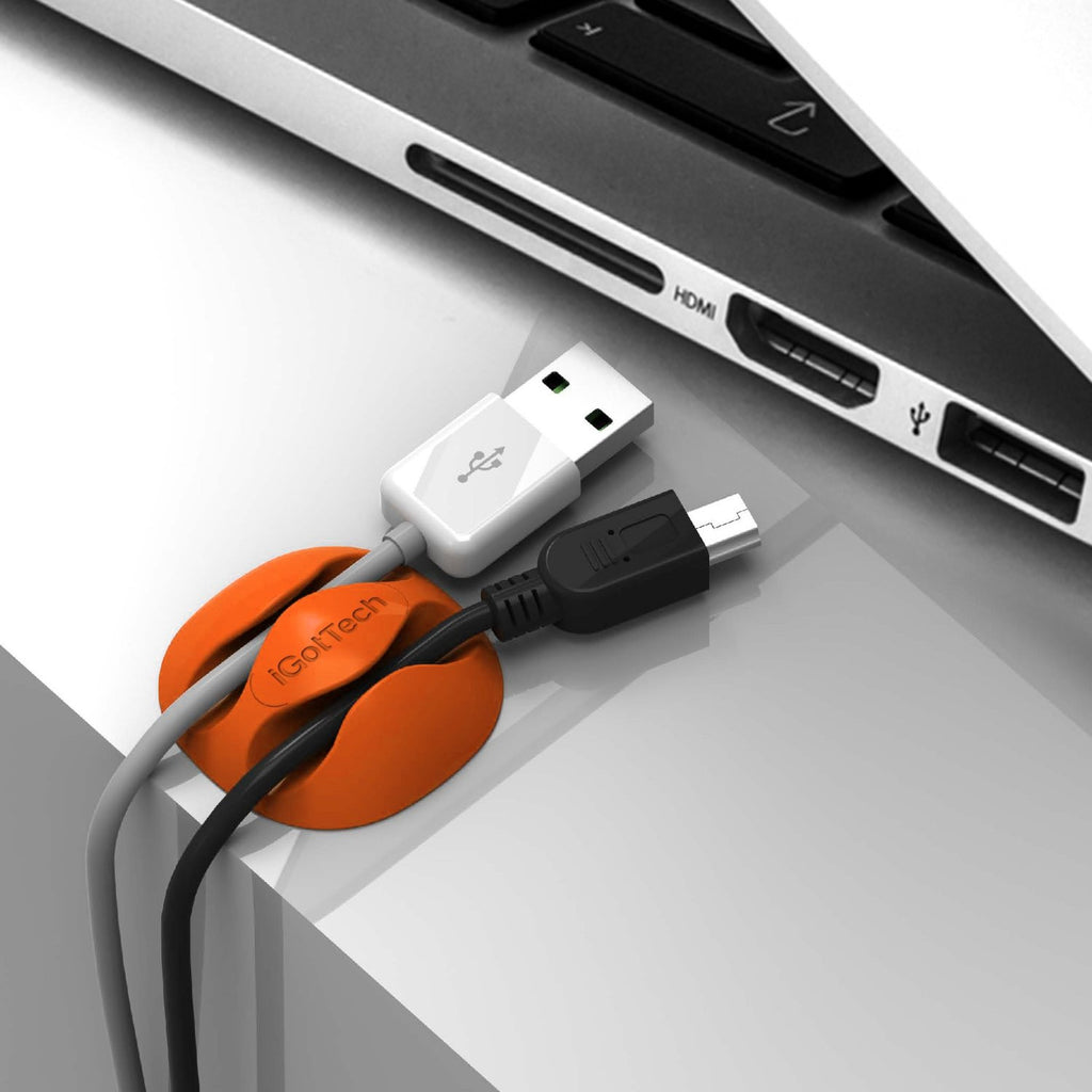 Cable Clips & Cord Management System - White - iGotTech
