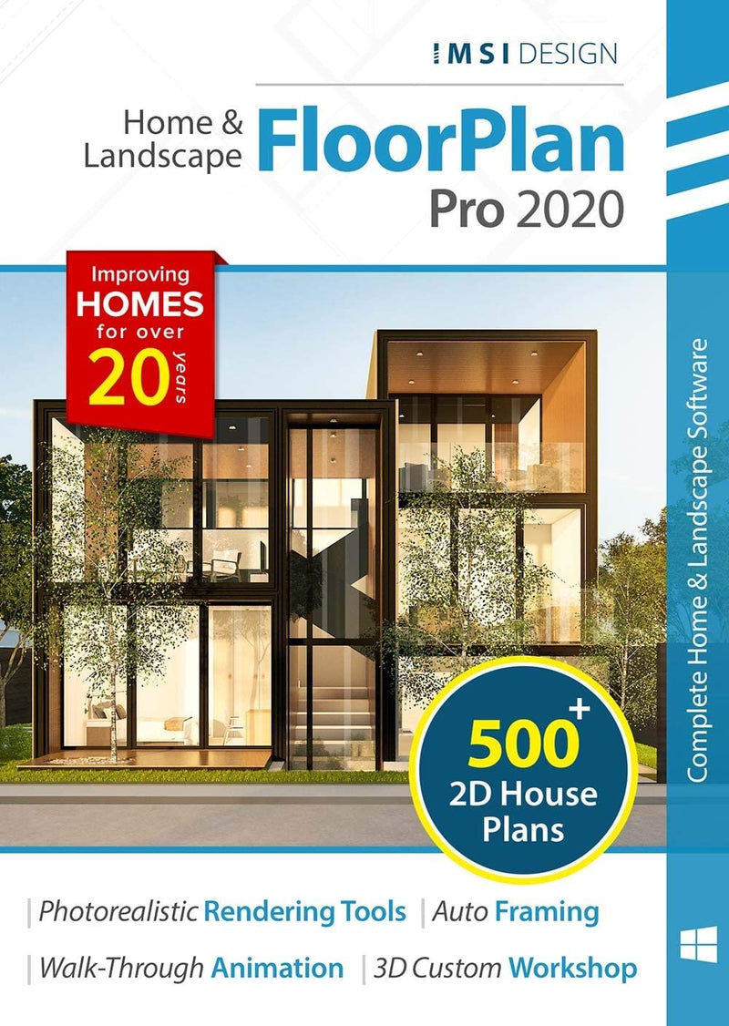 FloorPlan 2020 Home & Landscape Pro for Windows