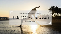 Blissology 100-hr Immersion, Canggu, Bali October/November 2017