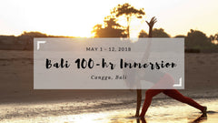 Blissology 100-hr Immersion, Canggu, Bali May 2018