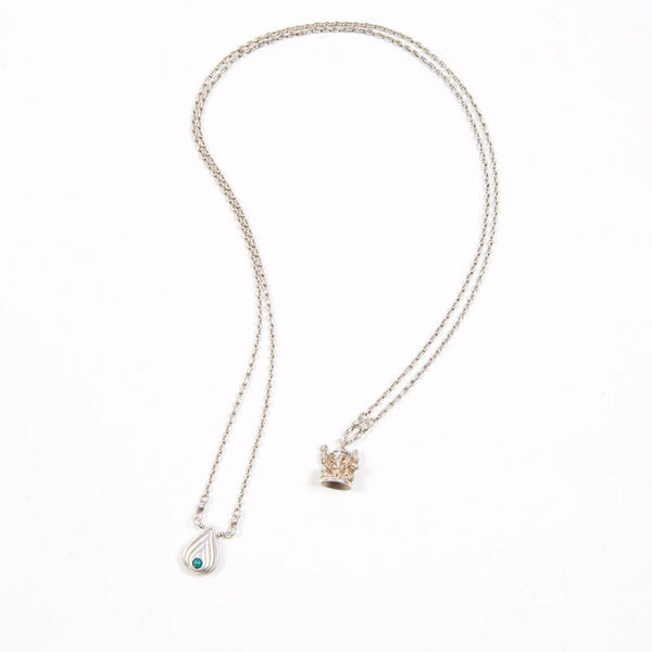 Blissology Silver Necklace with Stone