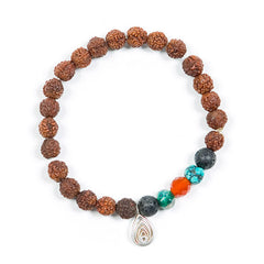 Rudraksha Bracelet with Blissology Pendant