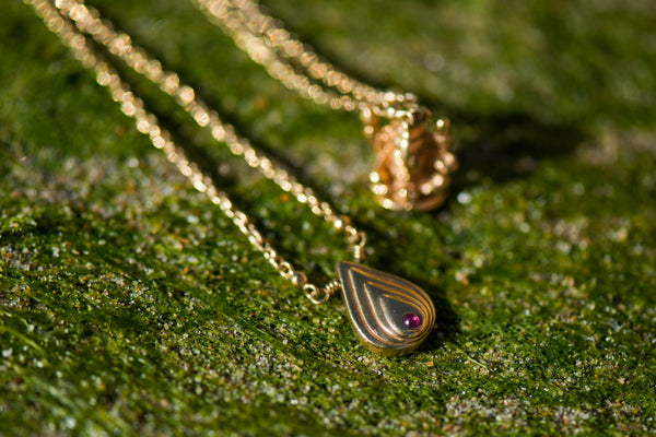 Blissology + Ganesha Limited Edition 18k Gold Plated Necklace with Pink Topaz