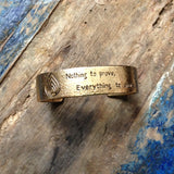 Engraved Bronze Bracelet