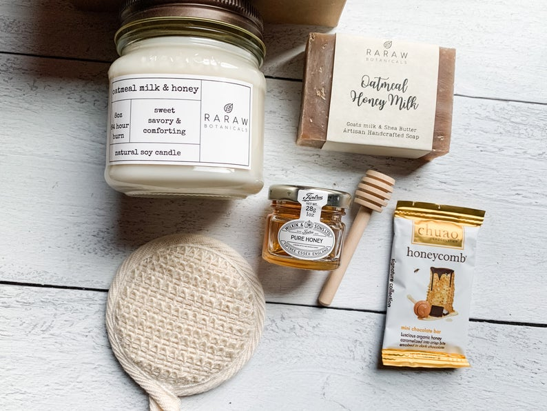 Oatmeal Honey Milk Soy gift set | RaRaw Botanicals
