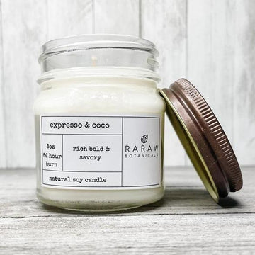 Expresso & Coco Soy Candle | Coffee lovers | RaRaw Botanicals