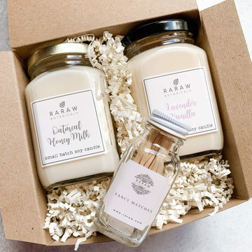 Soy Candle Gift Set-Bath & Beauty-RaRawBotanicals-2 candle gift set-RaRawBotanicals
