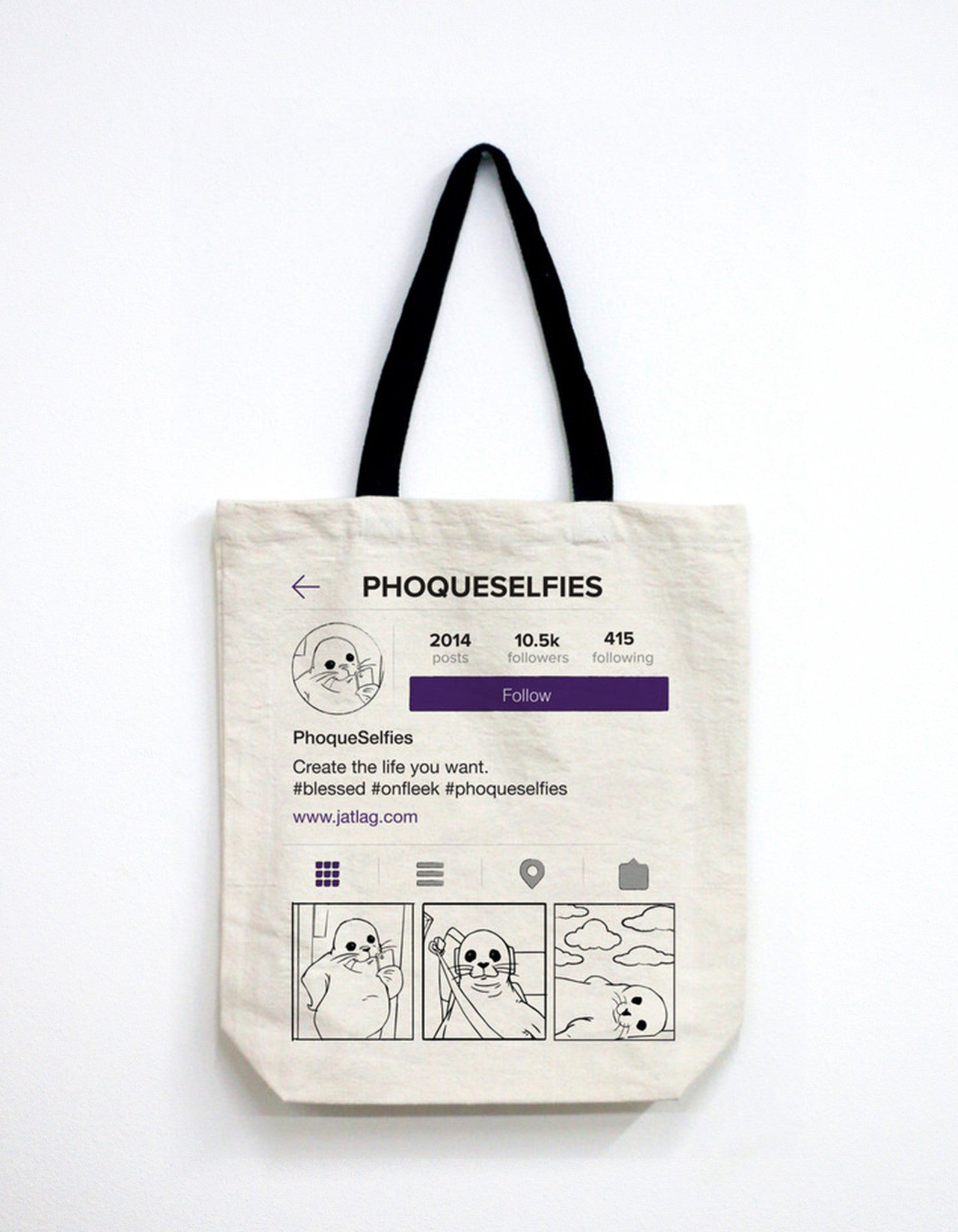 phoqueselfies tote bag