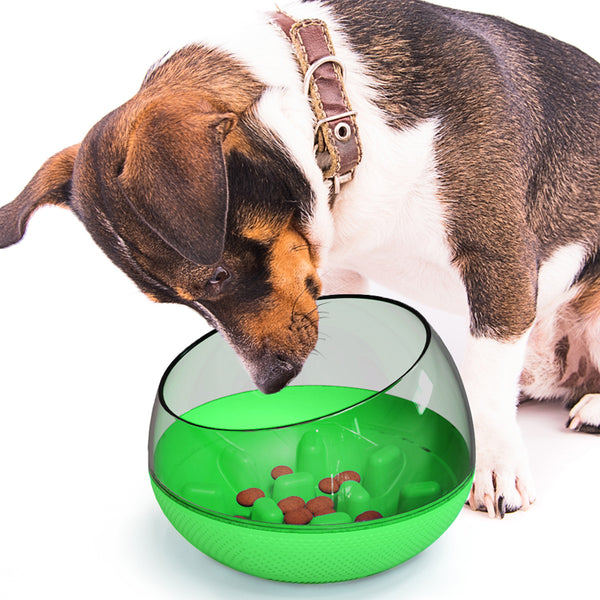 Dog Tumbler Toy |  Plastic Food Bowl