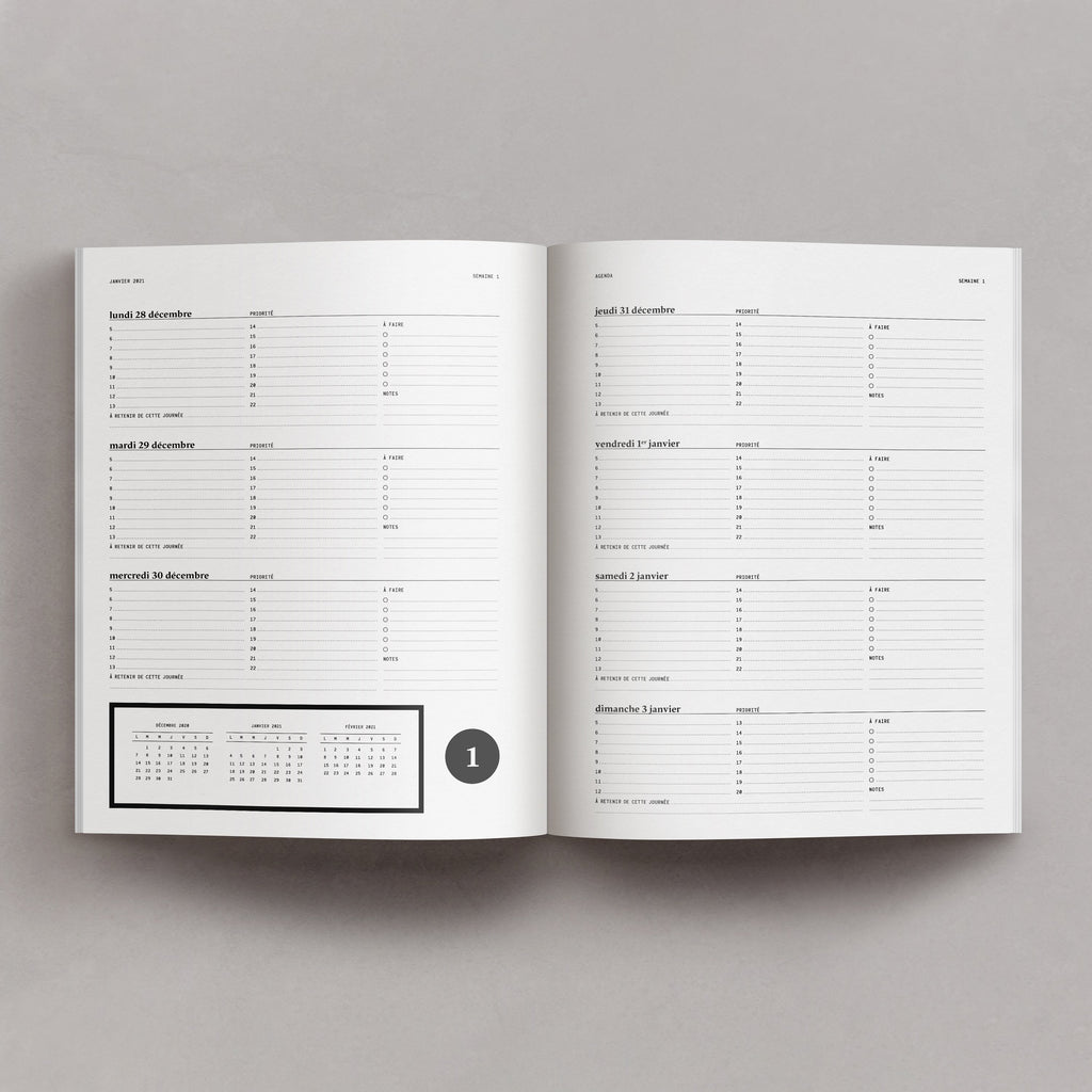 Notagenda / Planner 2021 – St.Lawrence Crown - Raoul & Simone