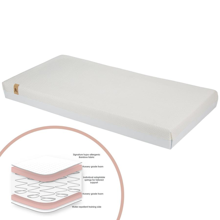 Cuddle Co Hypo Allergenic Bamboo Cotbed Sprung Mattress 140 x 70 Cms