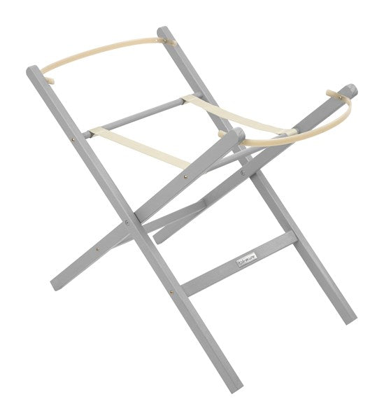Clair de Lune  Folding Moses Basket Stand Grey