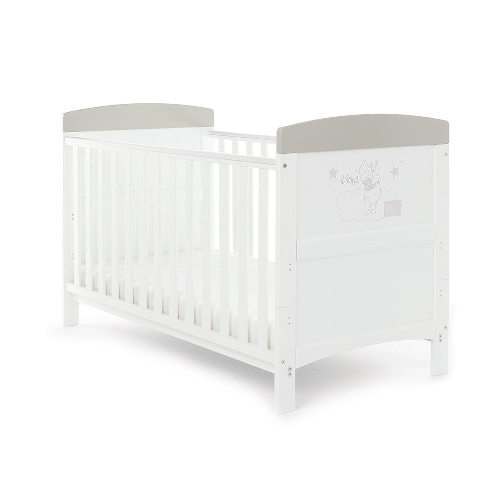 O Baby Winnie hug Cotbed white & grey - Click & Collect