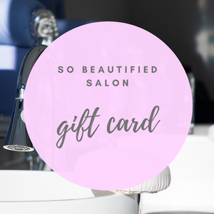 so beautified salon gift card