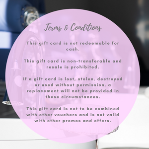 conditions of so beautified salon gift card
