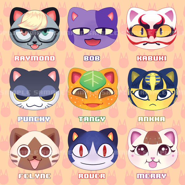 Cat Villager Buttons