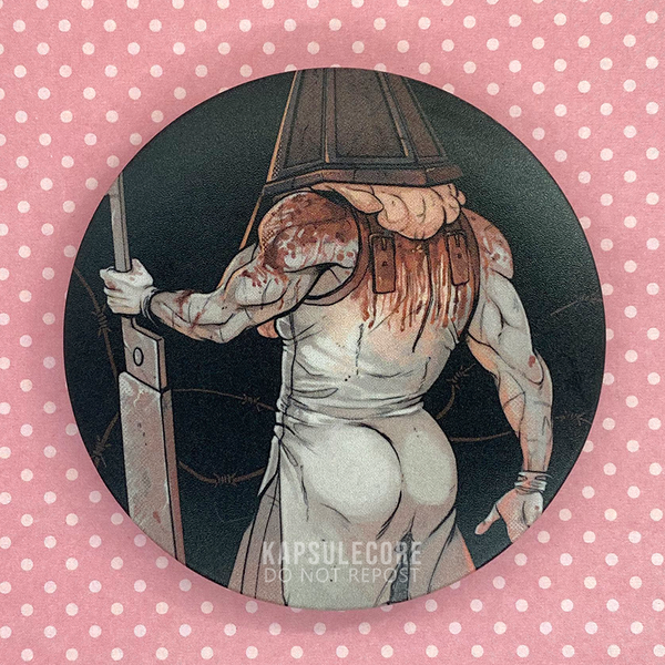 "Pyramid Head 3"" Button"