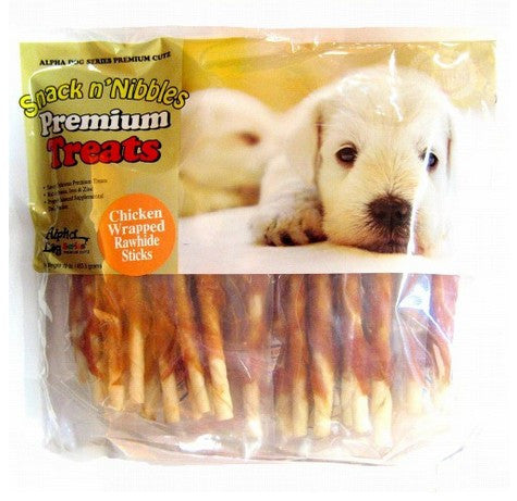 Alpha Dog Chicken Wrapped Rawhide Stick