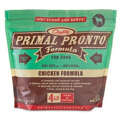 Primal Pronto Raw Chicken Dog Formula