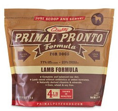 Primal Pronto Raw Lamb Dog Formula