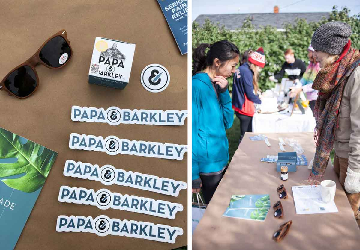 Papa and Barkley CBD booth at Hempsley event in Columbia, Missouri