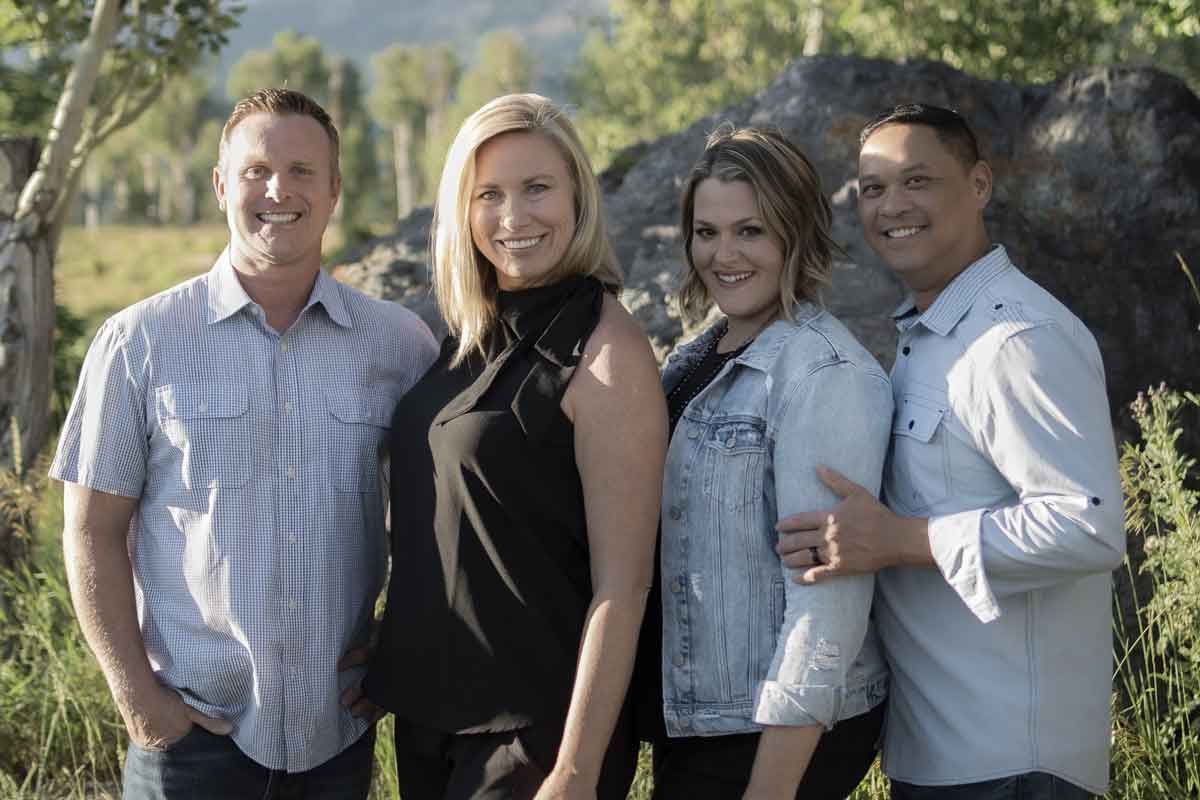 Founders of Aspen Green Brandon & Heather Lewis and Kyle & Valerie Chong
