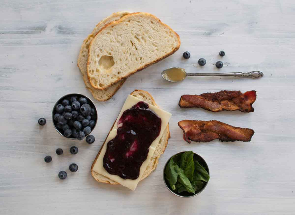 Cannabis infused blueberry grilled cheese recipe
