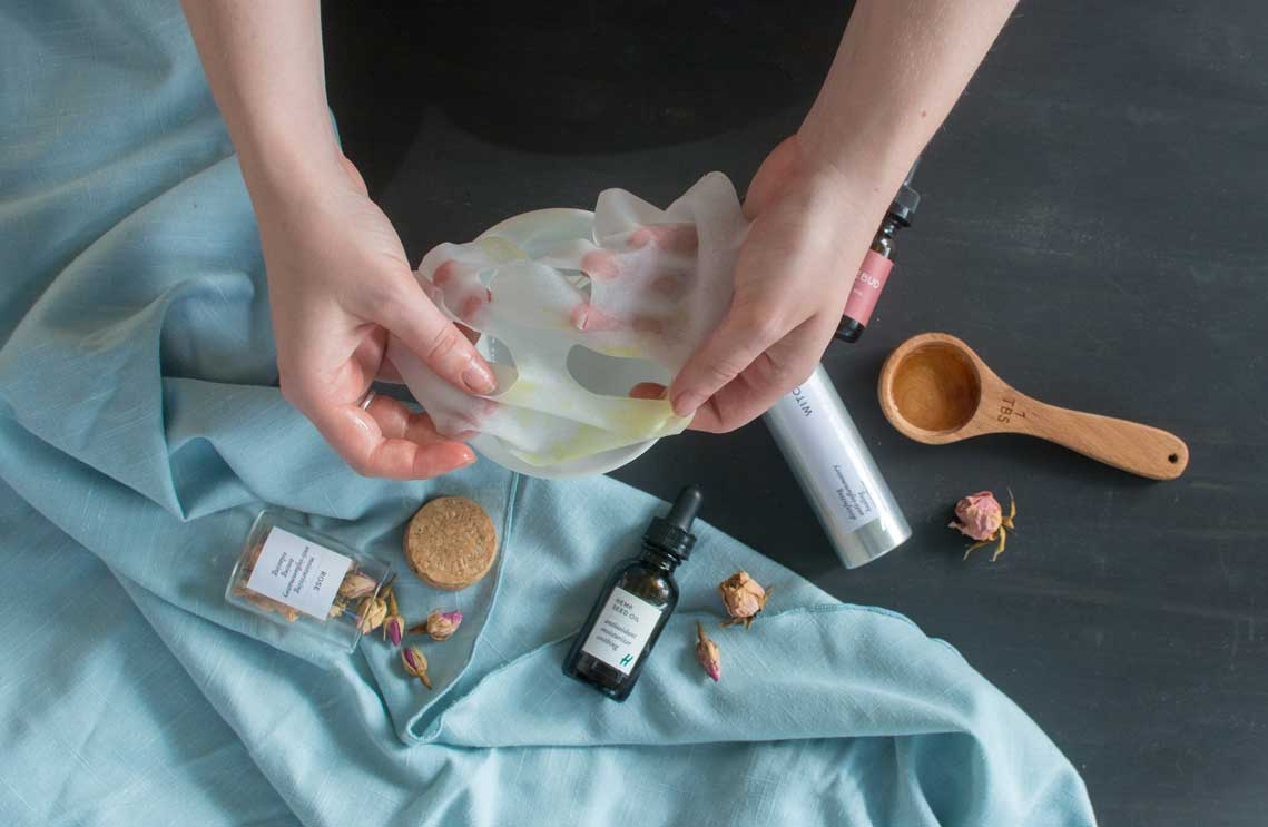 How to make your own CBD infused facial sheet mask at home