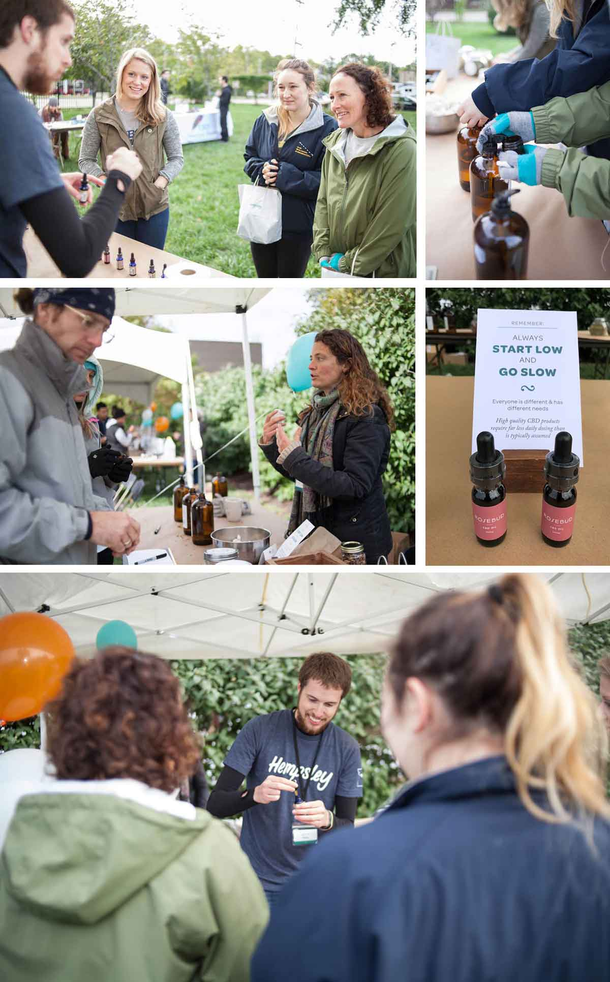 Tincture testing and making station at Hempsley's Event in Missouri
