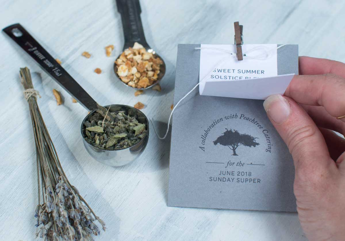 Summer Solstice Herbal Smoking Blend collaboration between Hempsley and Peachtree Catering